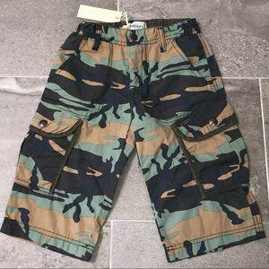 Boys Diesel Camo Shorts, Size 6